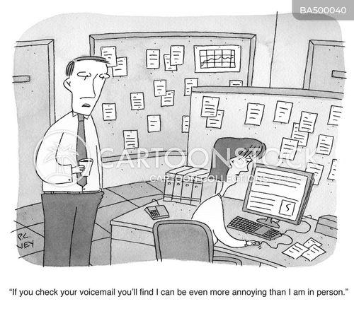 office phone cartoon