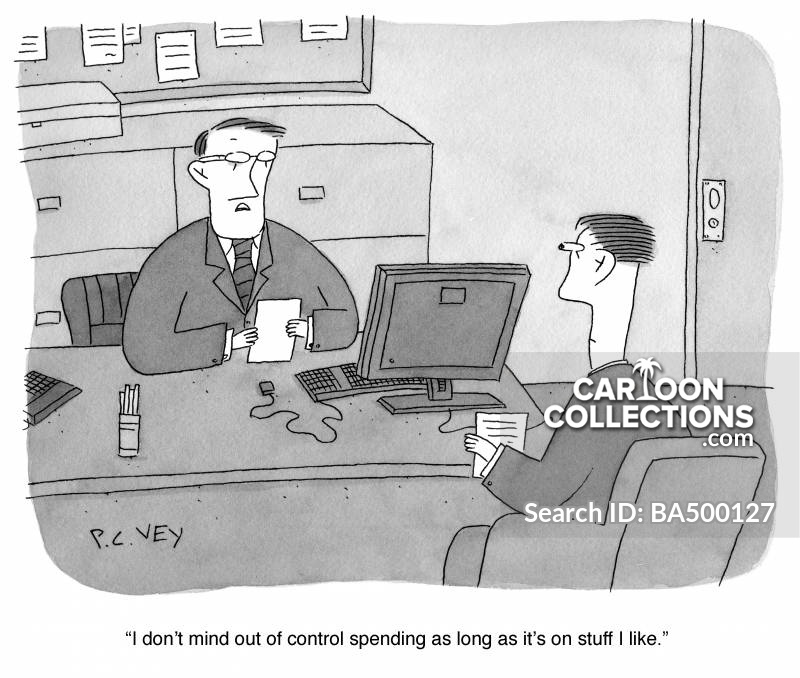 overspent cartoon