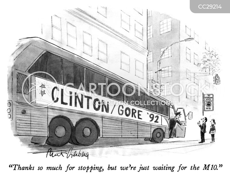 clinton cartoon