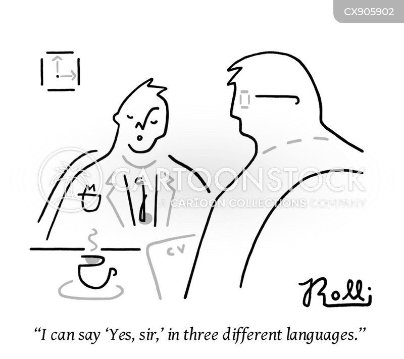 job seekers cartoon
