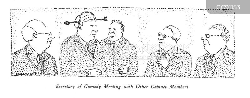 cabinet members cartoon