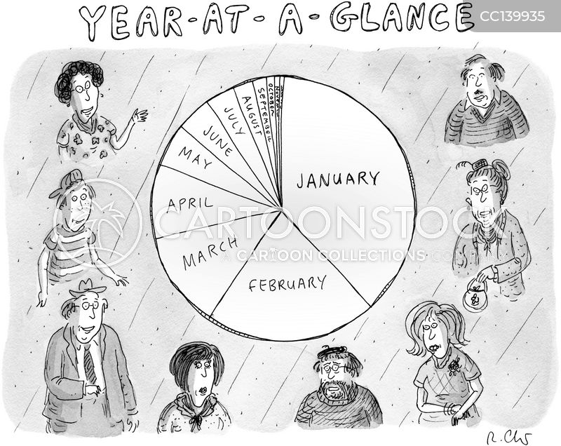 Year At A Glance cartoon