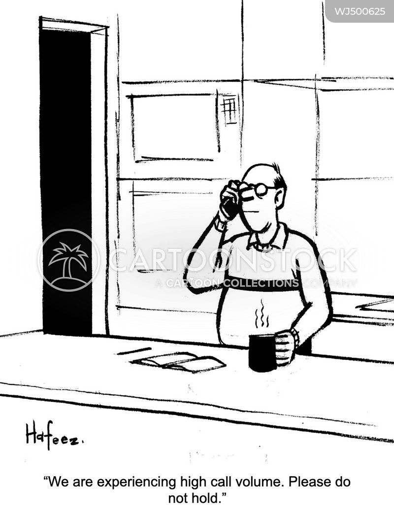 on the phone cartoon