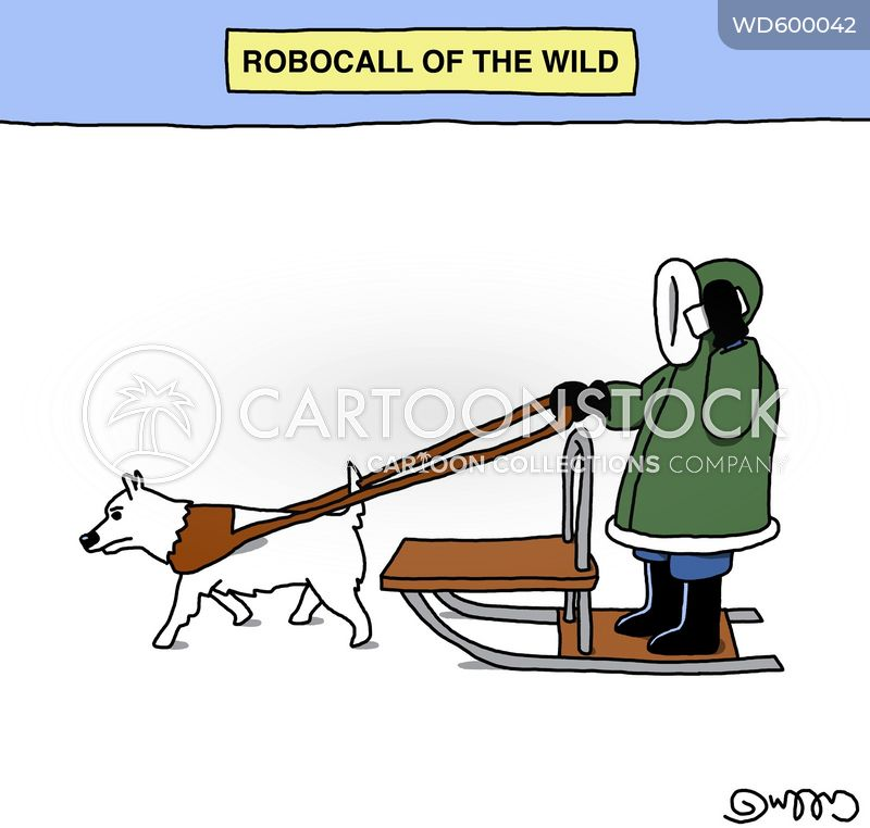 dog sleds cartoon