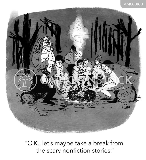 campfire story cartoon