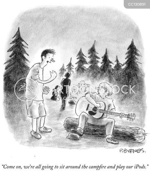campers cartoon