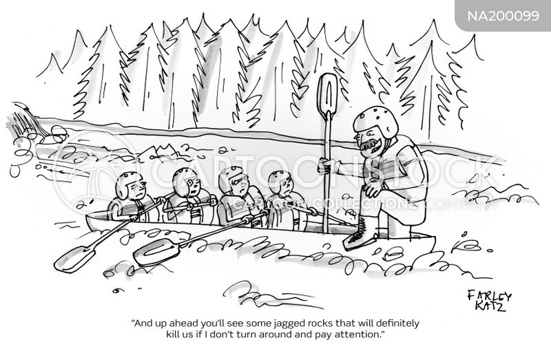 River Raft cartoon