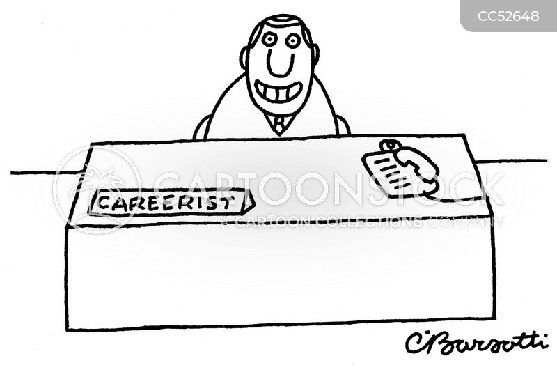 career progression cartoon