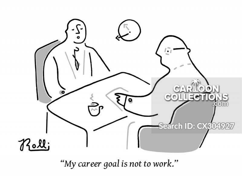career goals cartoon
