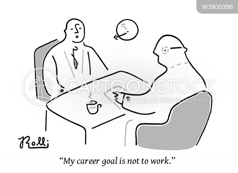 career goal cartoon