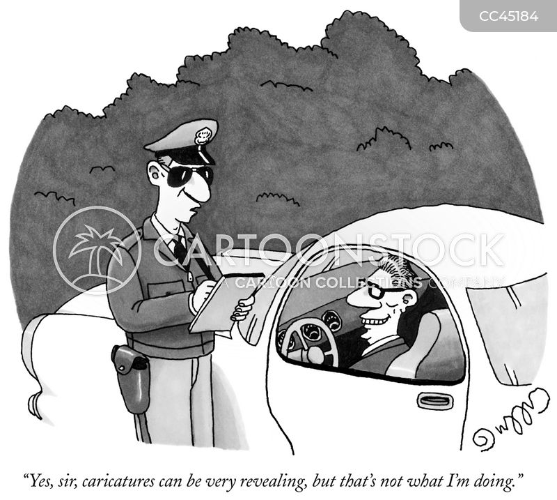 traffic officers cartoon