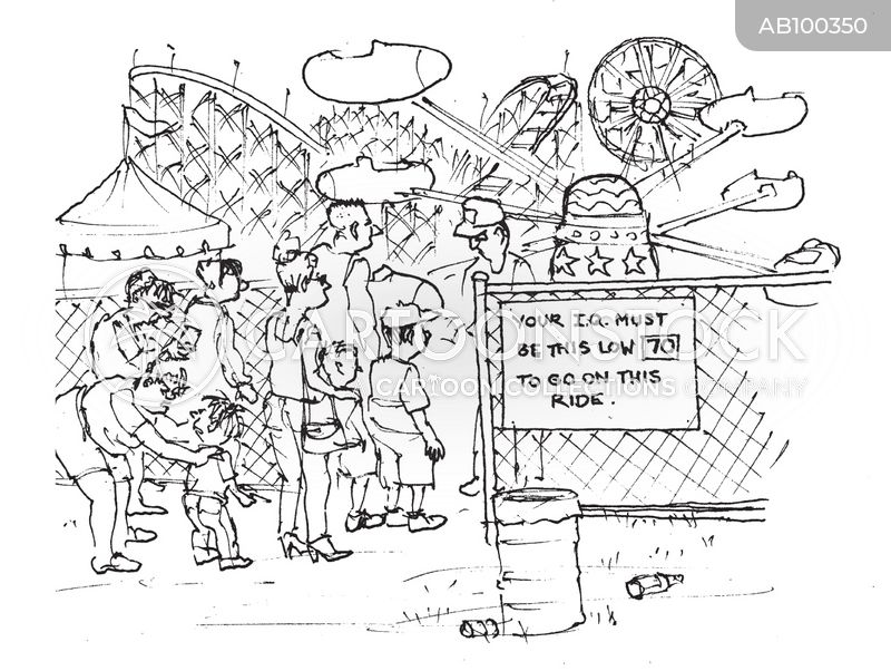 amusement park ride cartoon