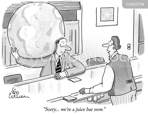 juice bar cartoon