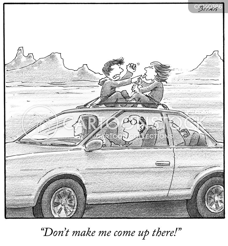 unsafe driving cartoon