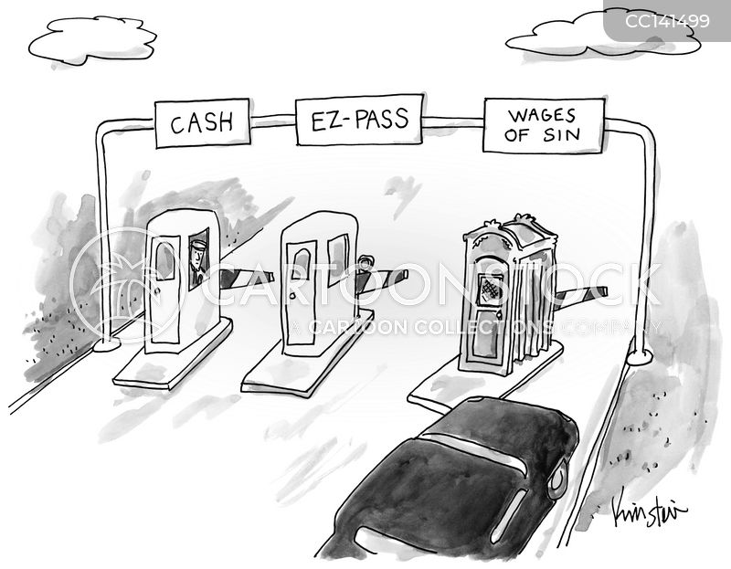 toll cartoon