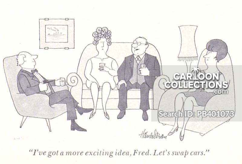 Swinging cartoon