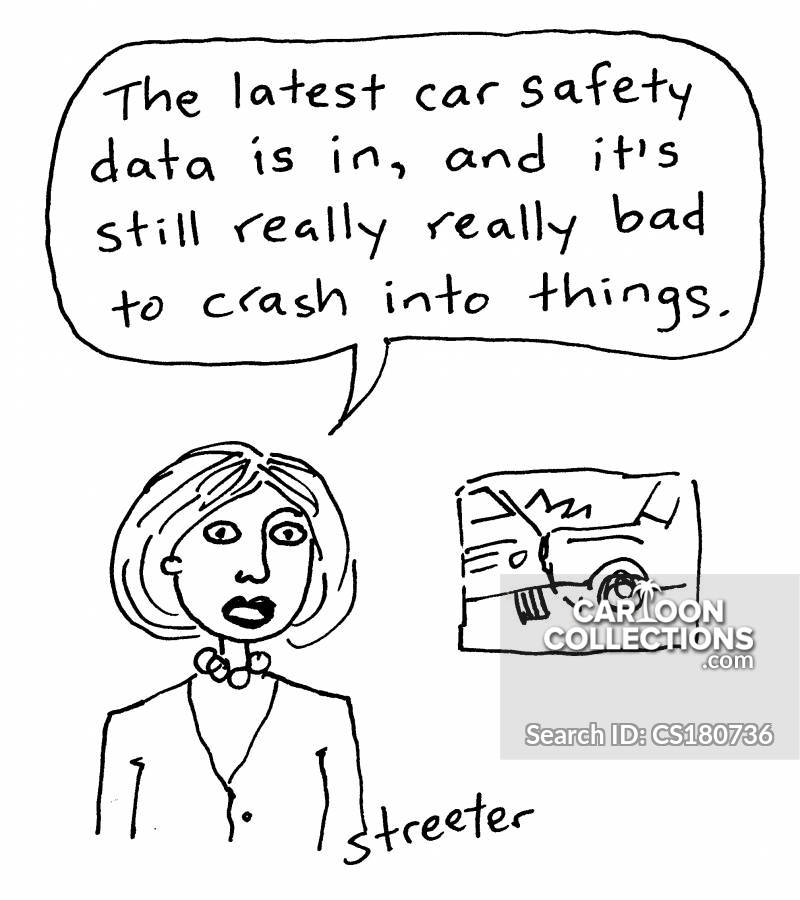 Collision cartoon