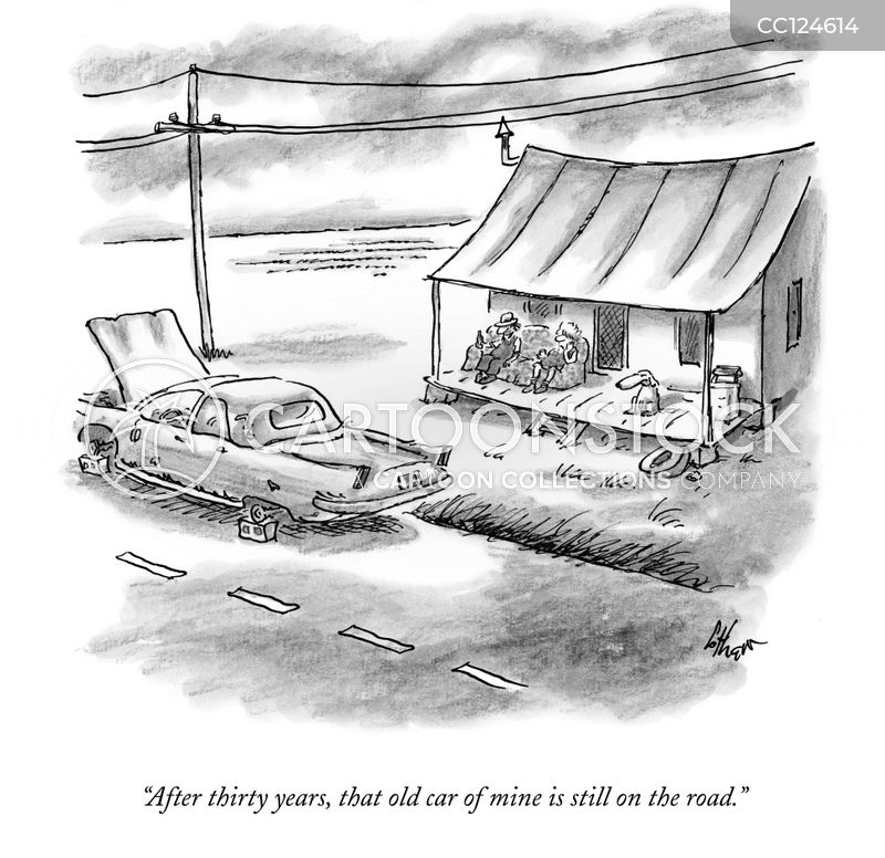 old cars cartoon