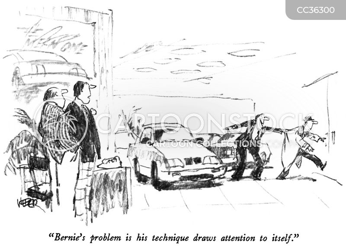 car dealer cartoon