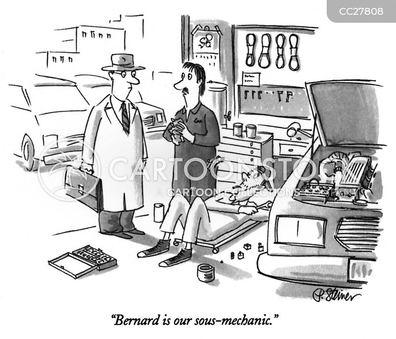 auto mechanics cartoon