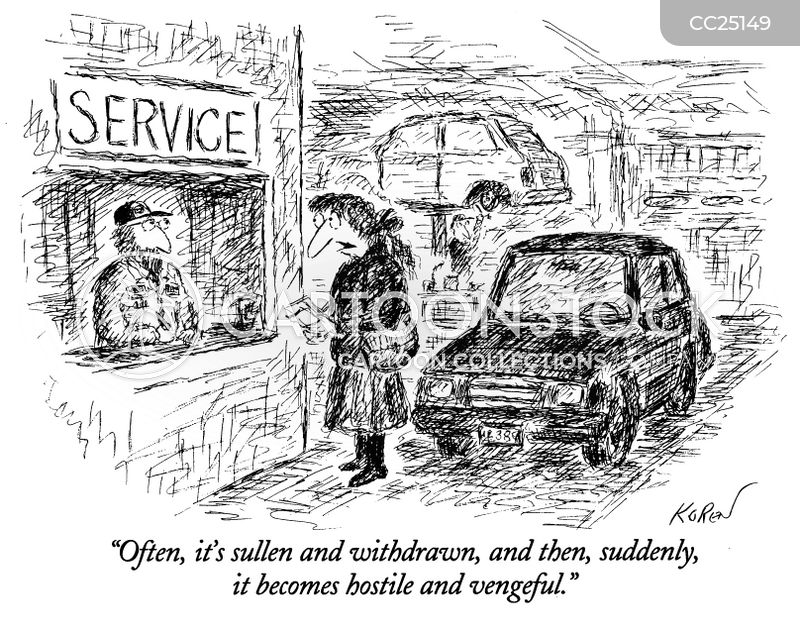 vehicle repairs cartoon