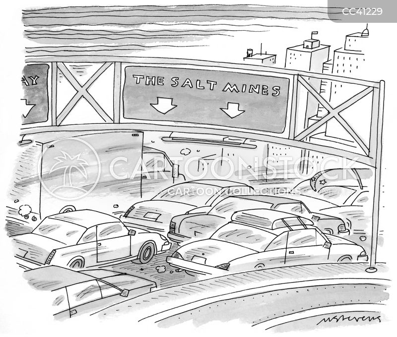 commuters cartoon