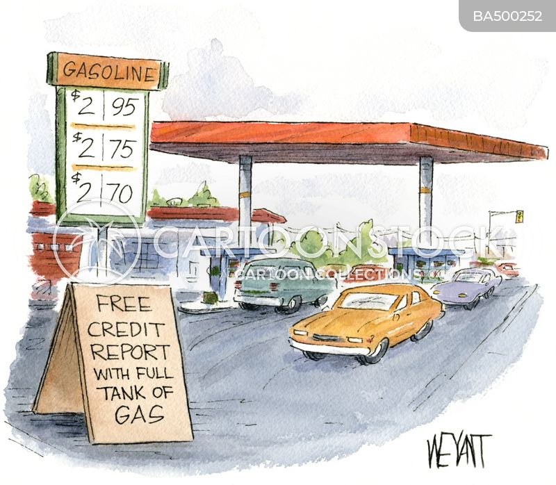 gas station cartoon
