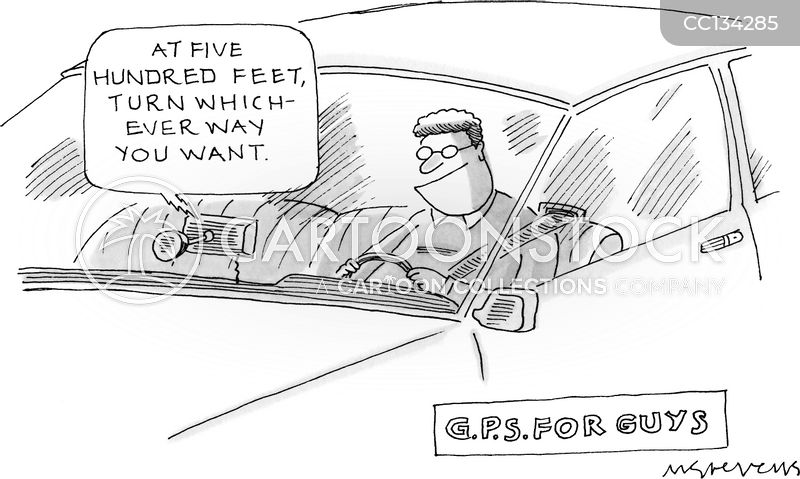 directions cartoon