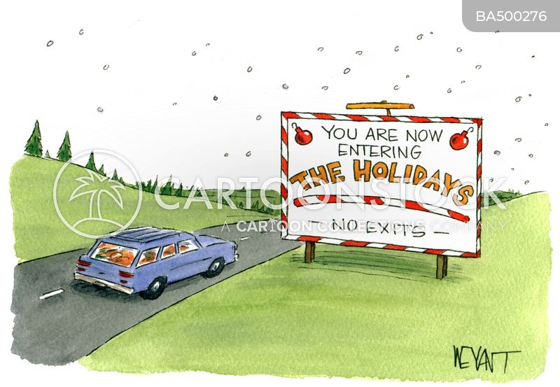 car trips cartoon