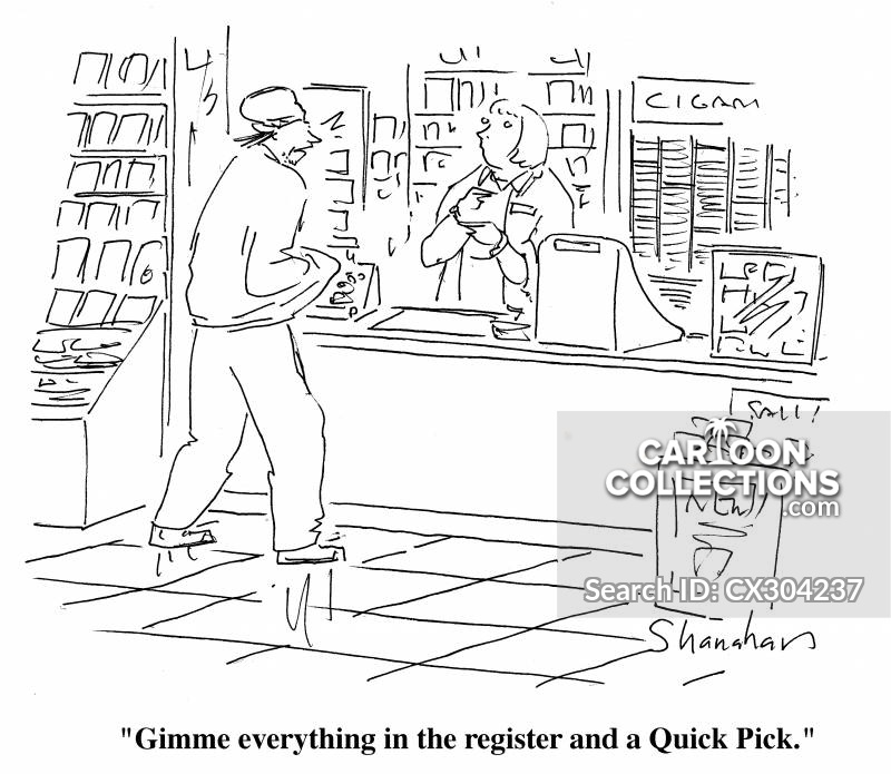 convenience stores cartoon