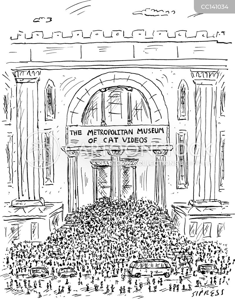 museum exhibits cartoon