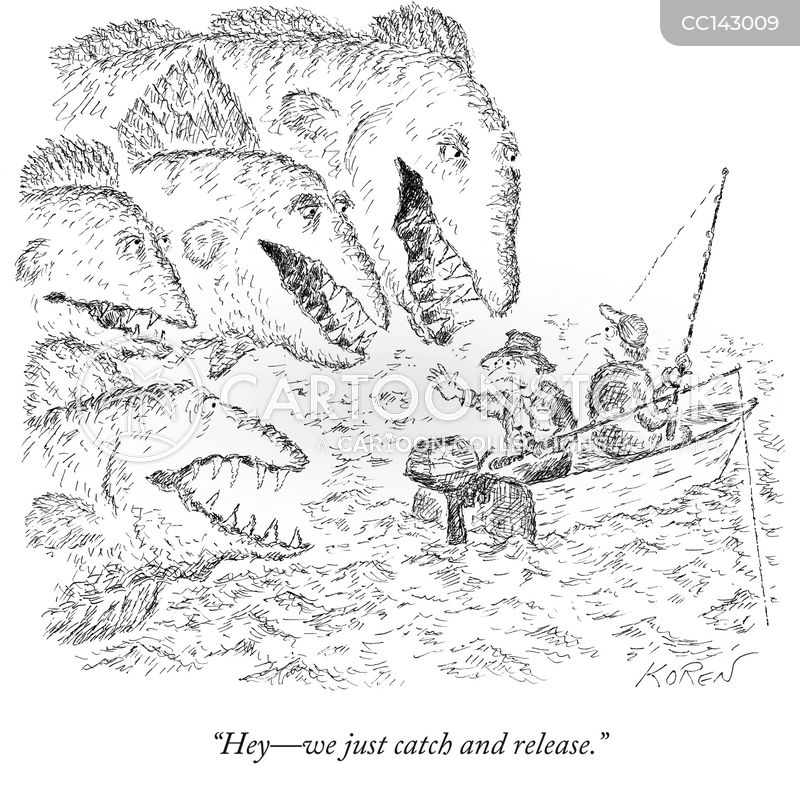 catch and release cartoon