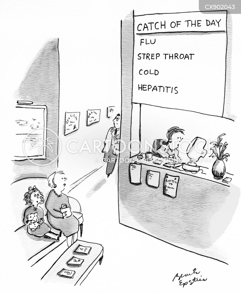 strep throat cartoon
