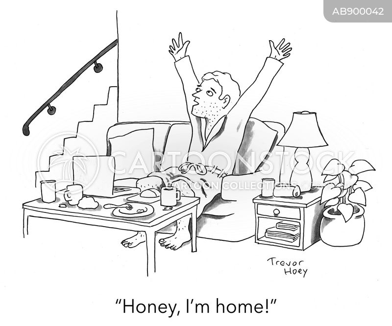 home from work cartoon