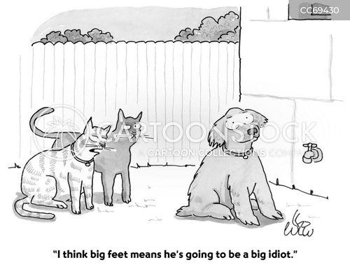 big feet cartoon