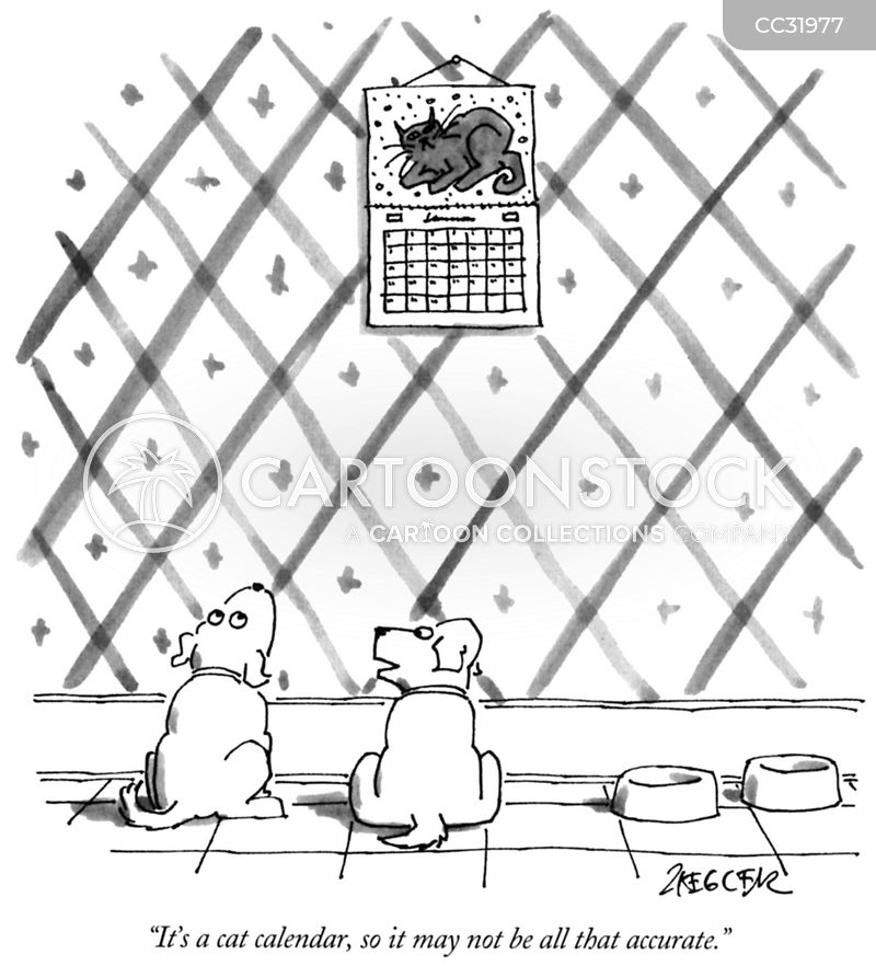 animal calendar cartoon