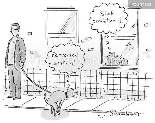 exhibitionists cartoon