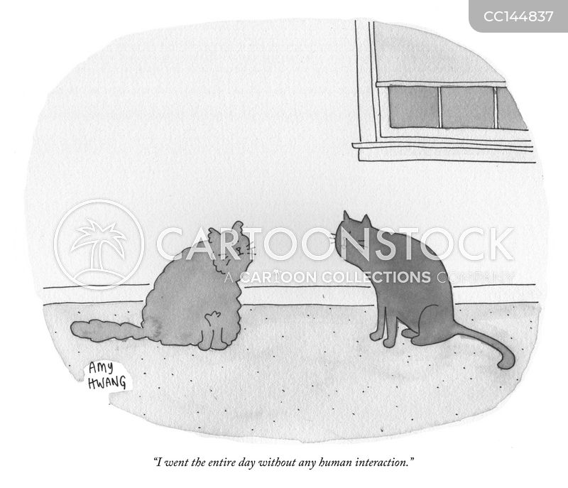 pet owners cartoon