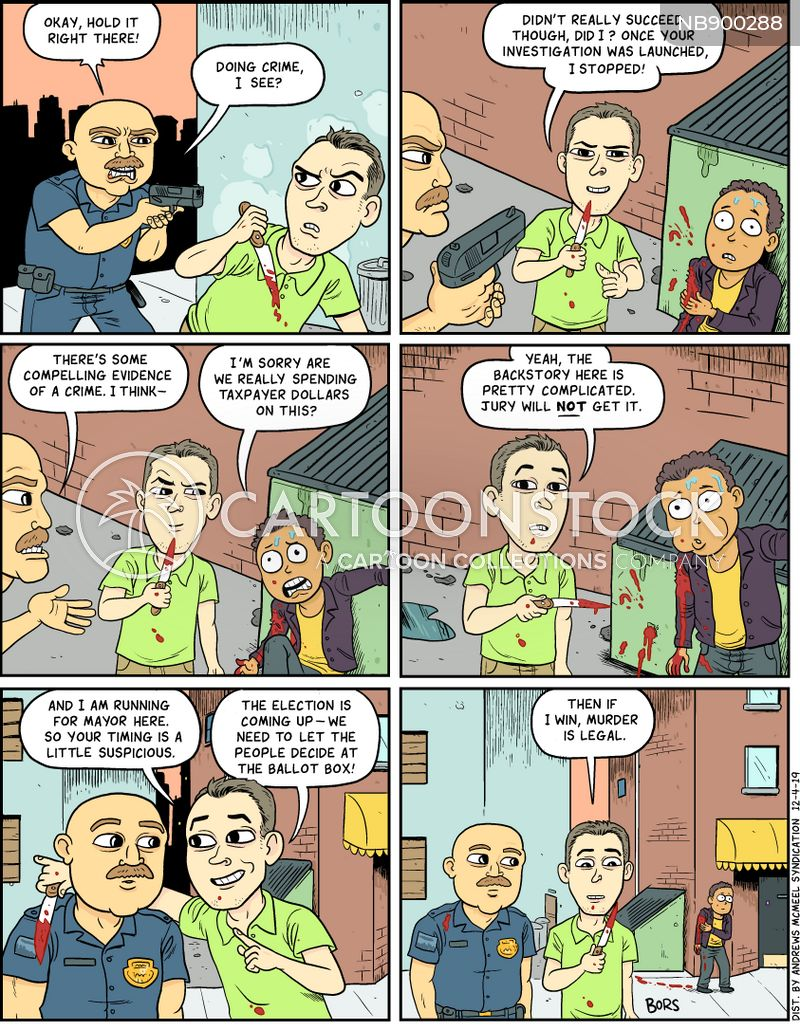violent crime cartoon