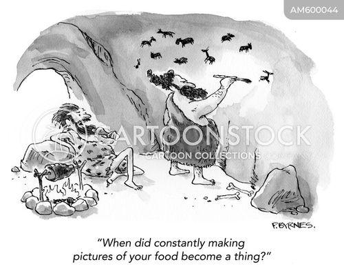 cave painting cartoon