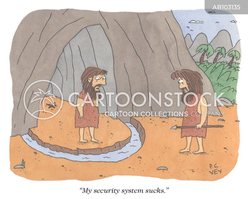 intruder cartoon