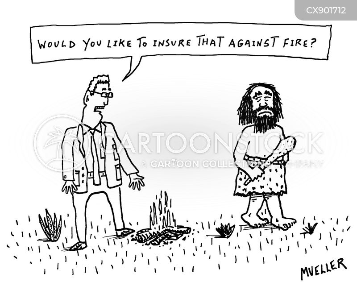 insurance salesman cartoon
