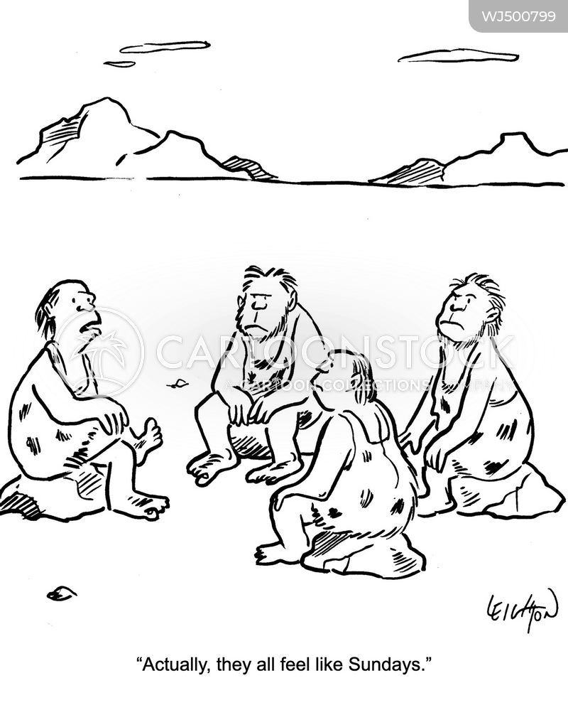 paleolithic man cartoon