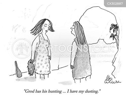 hunter gatherer cartoon