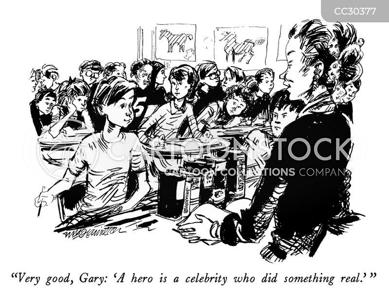 cult of celebrity cartoon