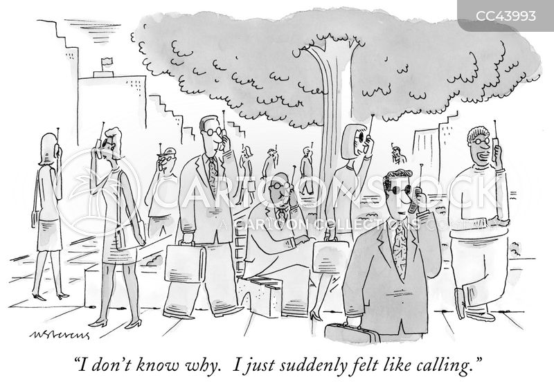 phone call cartoon