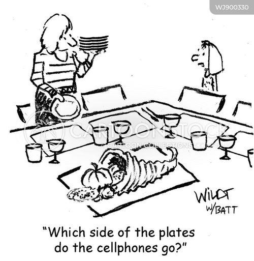 table settings cartoon