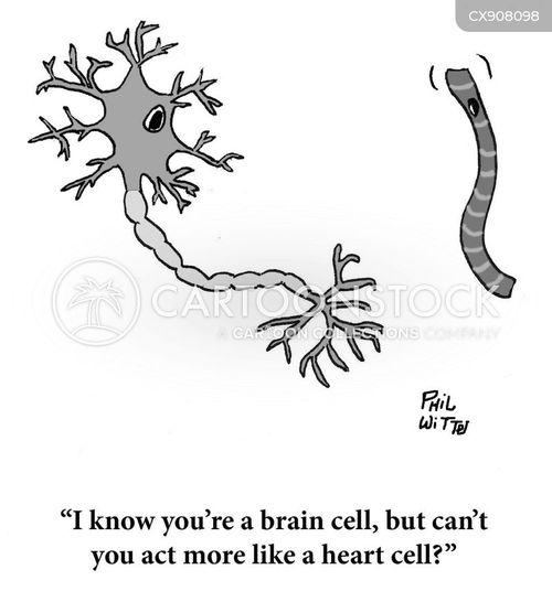 brain cell cartoon