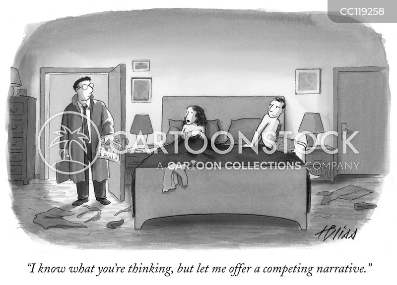 Cheating cartoon