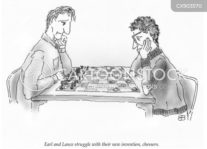 draughts cartoon